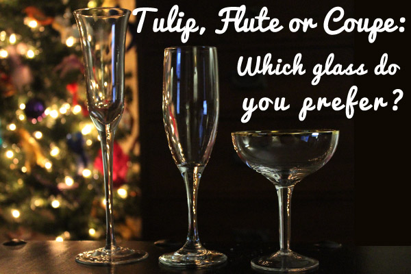 tulip, flute or coupe champagne glass, which one do you like?
