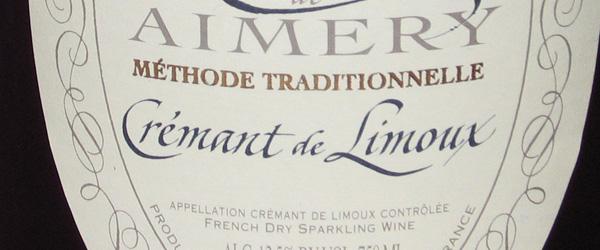 Cremant de Limoux sparkling wine