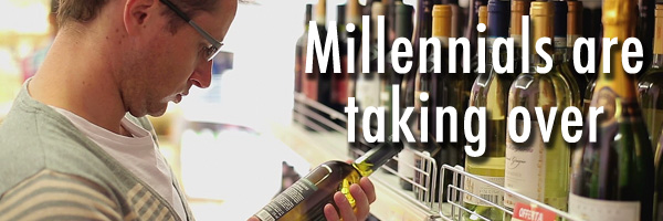 Millennials drinking wine in 2016