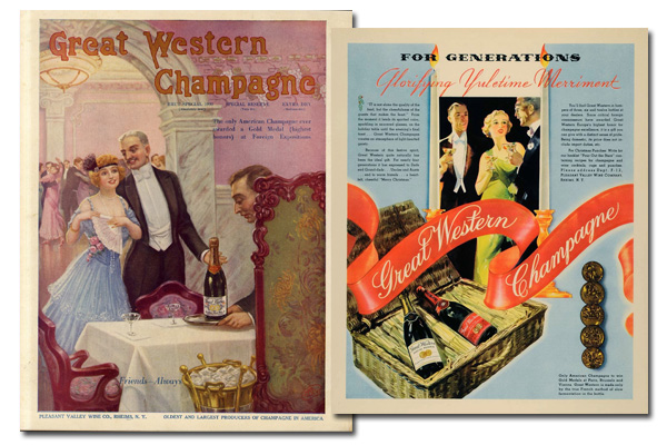 Great Western Champagne advertisements