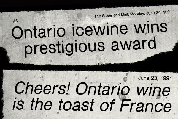 Canadian Icewine 1991 Inniskillin winery