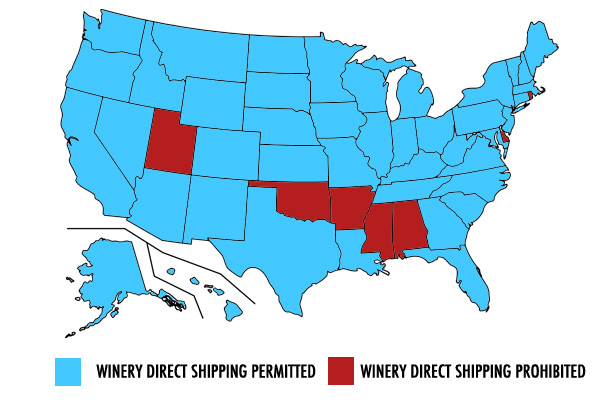 which states allow you to order out of state wines