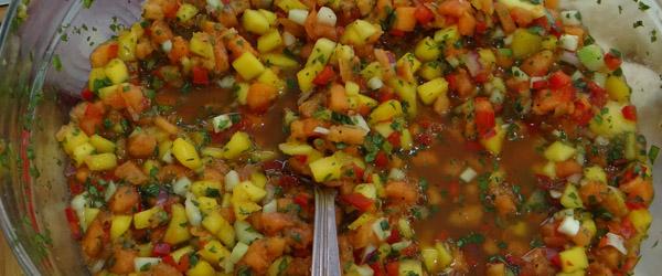papaya tropical fruit salsa