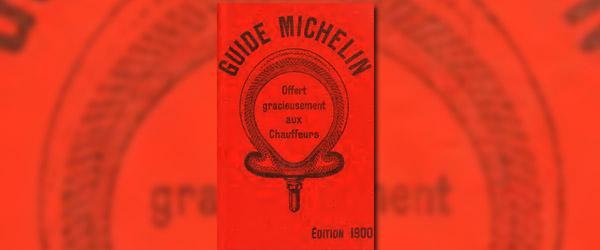 the first michelin guide 1900