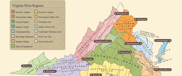 wine regions of Virginia