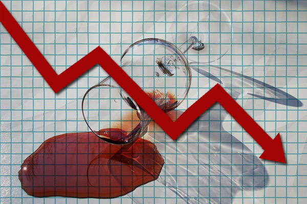 wine is down 5% in 2016