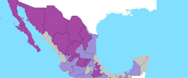 Mexico wine growing provinces and areas