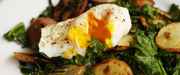 Kale, Potatoes & Poached Eggs