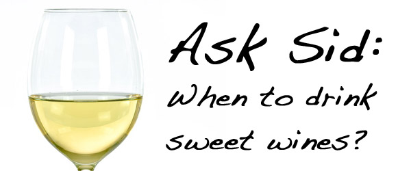 When to drink sweet wine