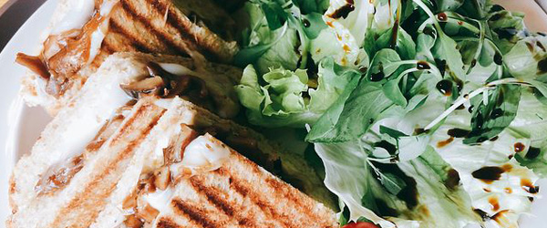 Swiss Cheese Mushroom Panini brunch
