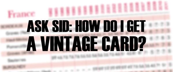 IW&FS vintage card chart wine