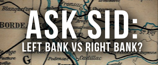 bordeaux wine difference between left bank and right bank