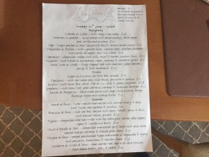 River Cafe London UK menu