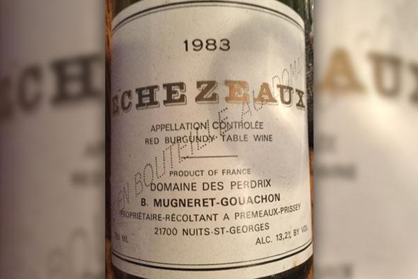 1983 Burgundy wine