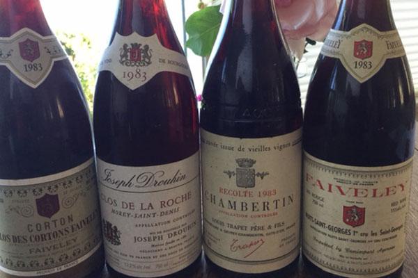 burgundy wine 1983