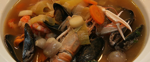 Seafood soup wine pairing