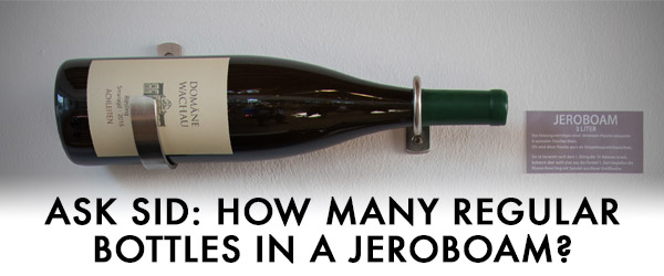 jeroboam wine bottle