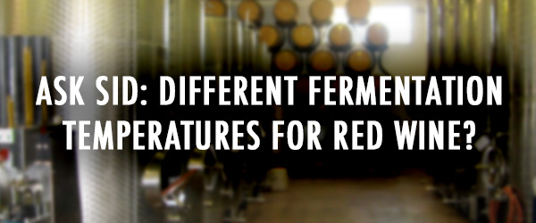 red wine fermentation temperature