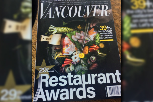 Vancouver Restaurant Awards 29th Annual