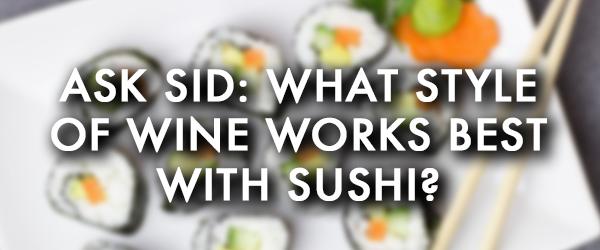 best wine pairing sushi