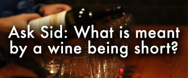short wine tasting