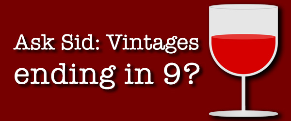 wine vintage year number nine 9